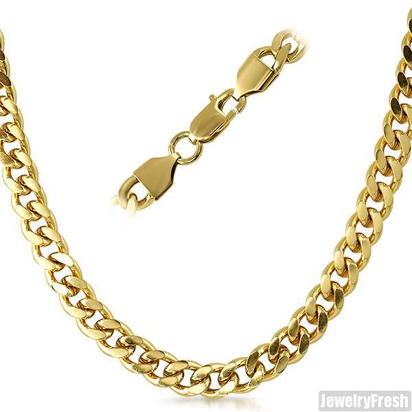 8mm 14K Gold IP Miami Cuban Chain