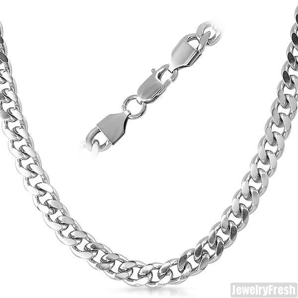 8mm Stainless Steel Miami Cuban Chain