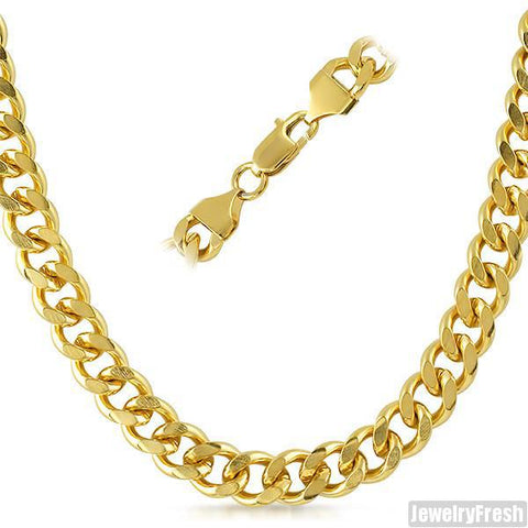 10mm 14K Gold IP Miami Cuban Chain