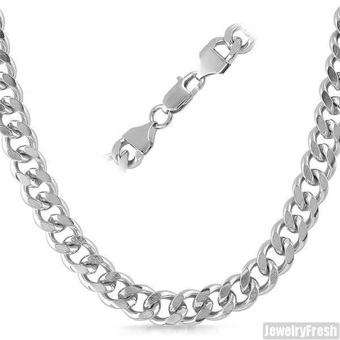 10mm Stainless Steel Miami Cuban Chain