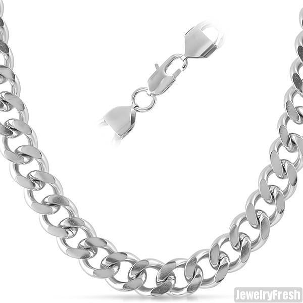 12mm Stainless Steel Large Cuban Chain
