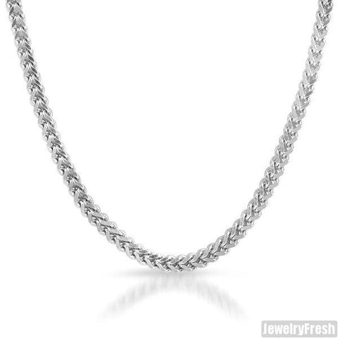 36 Inch High End Diamond Cut Steel Franco Chain