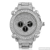 Platinum Jumbo Chrono Full Iced Mens Hip Hop Watch