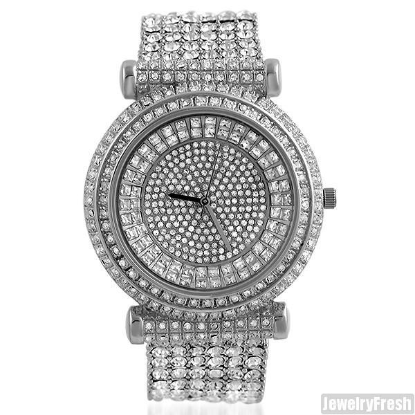 Custom Fully Iced Out Czech Crystal Bling Watch