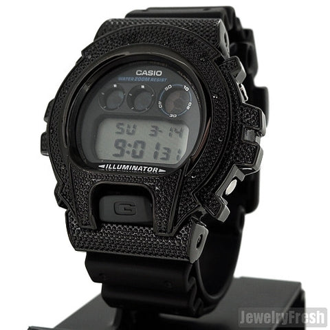 All Black 0.12 Carat Genuine Diamond G Shock Watch