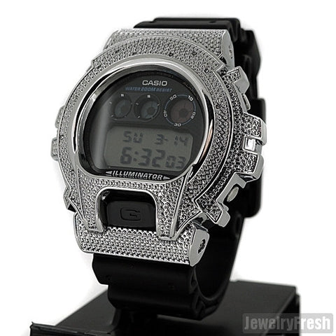 Rhodium 0.12Carat Genuine Diamond Casio G Shock