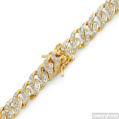 18k Gold Finish Iced Out Miami Cuban Bracelet