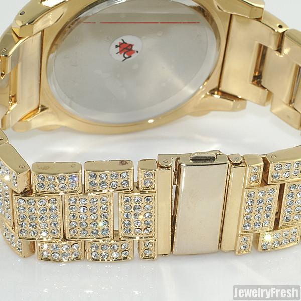 Gold Jumbo Chrono Full Iced Mens Hip Hop Watch