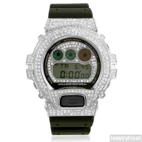 Top Quality Stainless Steel CZ G Shock Watch DW-6900