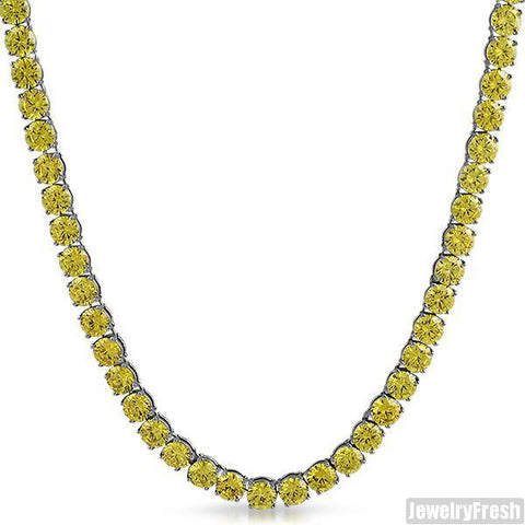 Canary Yellow CZ 115 Carat Stainless Steel Chain