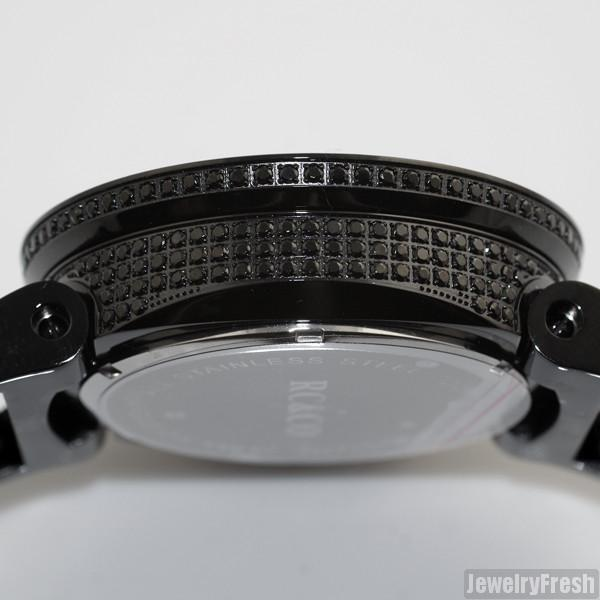 RC&Co Full Iced Sport Watch Lab Made CZ Black