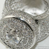 Platinum Tone CZ Custom Jumbo Blizzard Ring