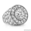 10.5 Carat White Gold Finish Big Rocks CZ Ring