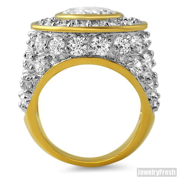 10.5 Carat Big Rocks Gold Sterling Silver Ring