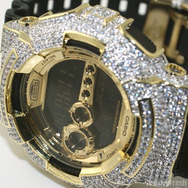 Gold Simulated Diamond Iced Out GD-100 Watch