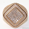 Diamond Shape Micropave 360 CZ Ring Rose Gold