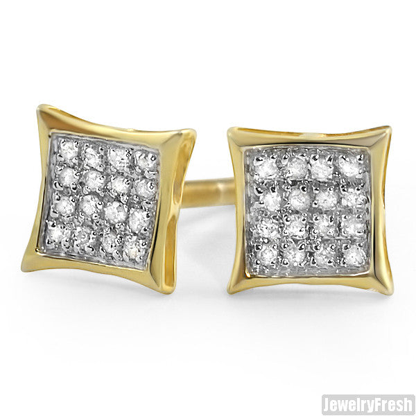 0.10 ct Diamond Gold Vermeil Kite Earrings
