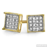 Vermeil Genuine Diamond 0.10ct Box Earrings