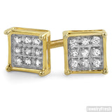Vermeil Gold 0.05ct Diamond Box Stud Earrings