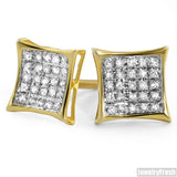 Vermeil 0.15ct Genuine Diamond Kite Stud Earrings