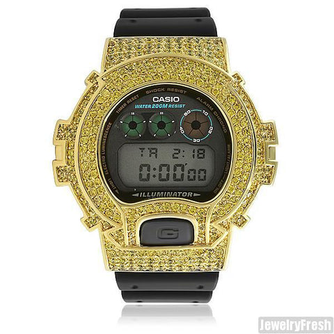 Gold Canary Custom Iced Out G Shock DW-6900