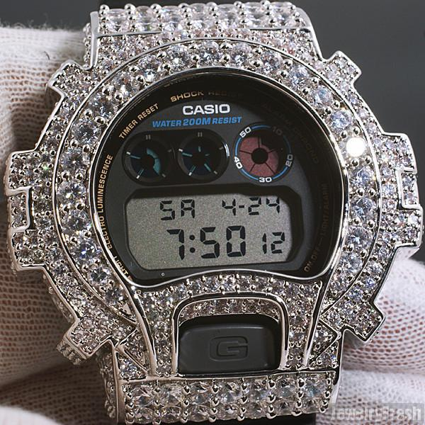 Rhodium Big Stone 13.5 CTW G-Shock DW6900