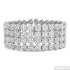 XXL 4 Row CZ Cluster Rhodium Iced Out Bracelet