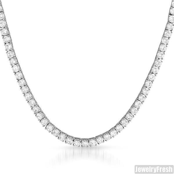 925 Sterling Silver 4mm Iced Out Tennis Chain