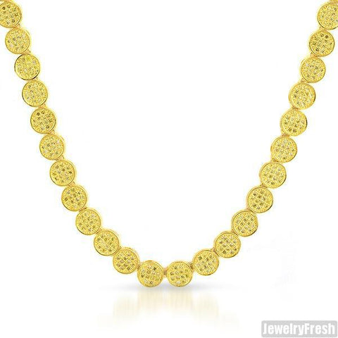 Custom Gold Lemonade Flat Pave Lab Made Chain
