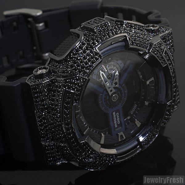 All Black Custom CZ Casio G-Shock GA-110