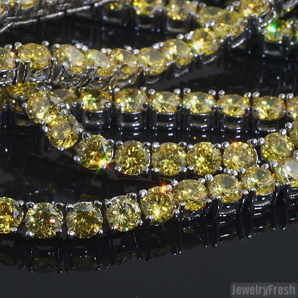 Steel Never Tarnish Canary 51 Carat Vvs Chain Jewelryfresh