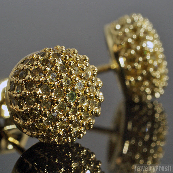 Canary Iced Out Flawless CZ 360 Ball Earrings
