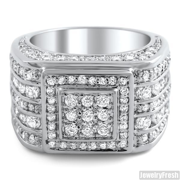 5 Carat CZ Superbowl Ring Sterling Silver