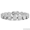 Rhodium 12.75 CTW 360 Iced Cluster Bracelet for Men