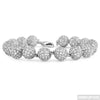 10.40 CTW White Gold Finish CZ Bead Bracelet