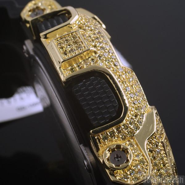Limited Edition Black and Gold Iced Out GD-100 Watch