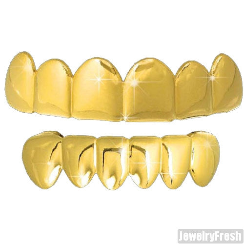 Gold Polished Shiny Teeth Grill Combo By Best Grillz