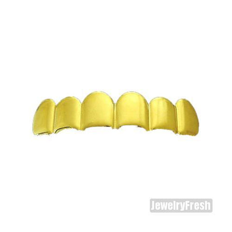 Gold Finish Shiny Polished Top Teeth Grill
