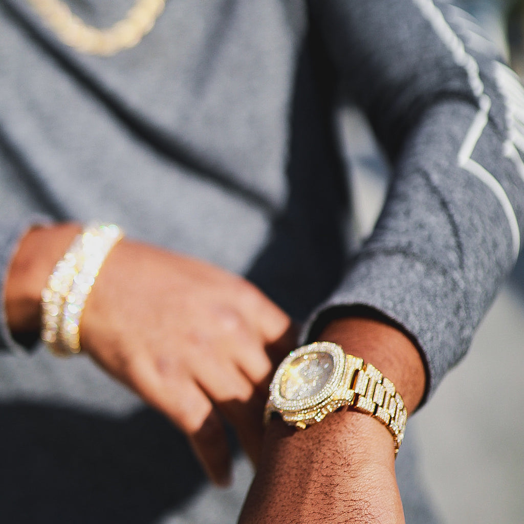 Jumbo Fully Iced Out Nautical Watch