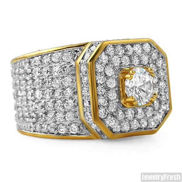 Gold Sterling Silver 12.5 CTW CZ Supreme Ring