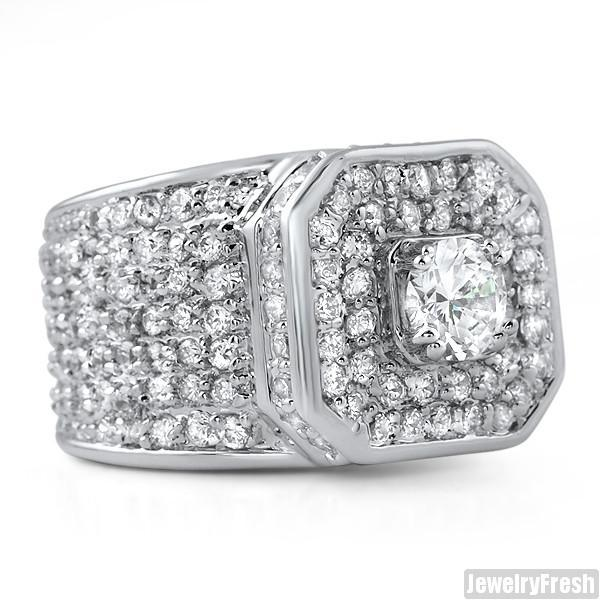 Sterling Silver 12.5 CTW Lab Diamond Supreme Ring