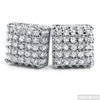 Rhodium VVS Lab Simulated Diamond Box Earrings