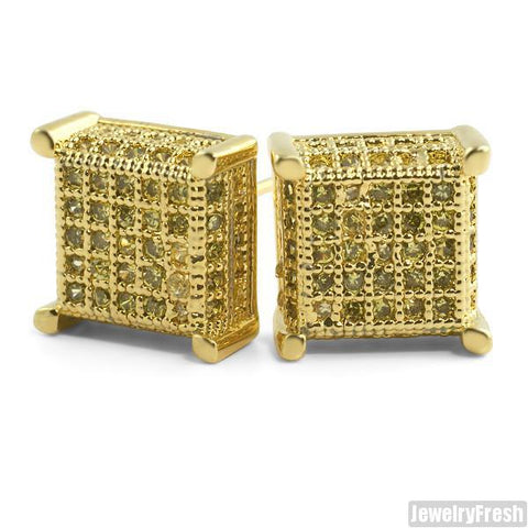 Lemonade 360 Fancy Cube Earrings Flawless VVS