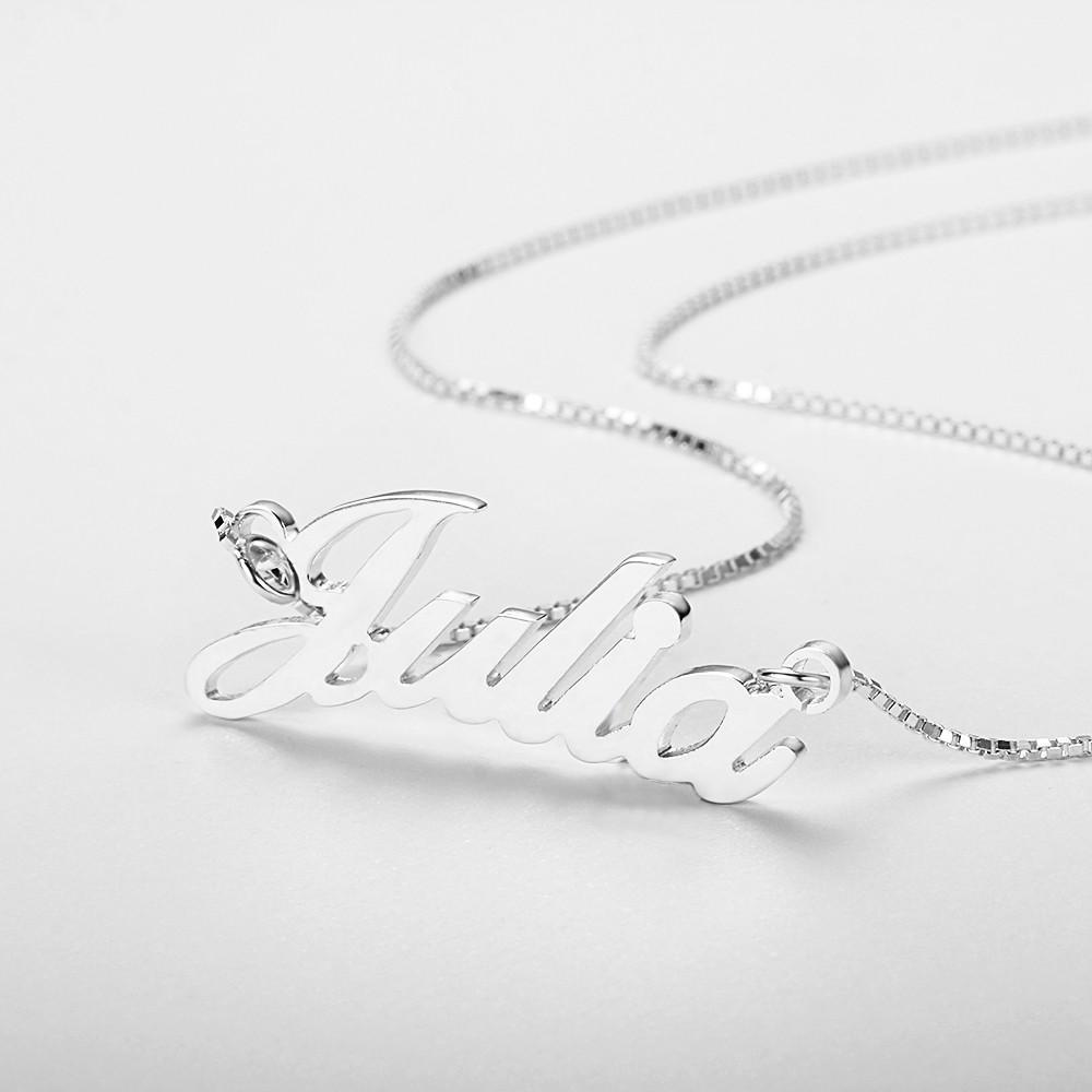 Custom Women's Script Necklace