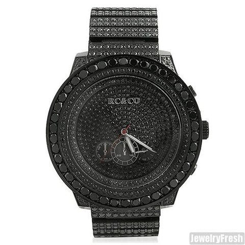 RC&Co Canary Black Stone High Grade Luxury Watch