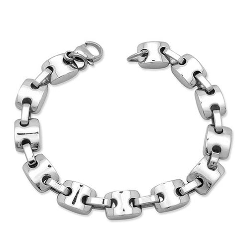 Fully Polished VICTORY Stainless Steel Bracelet