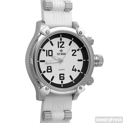 White Big Face Russian Diver Fashion Watch