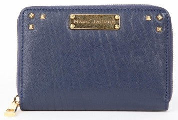 Marc Jacobs Leather Zip Around Wallet - Blue