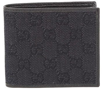 Gucci GG Guccissima Canvas Denim With Leather Wallet - Black