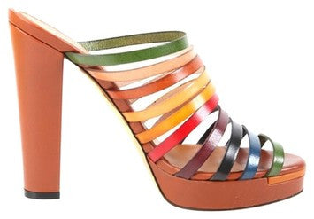 Fendi Multi Color Sandals